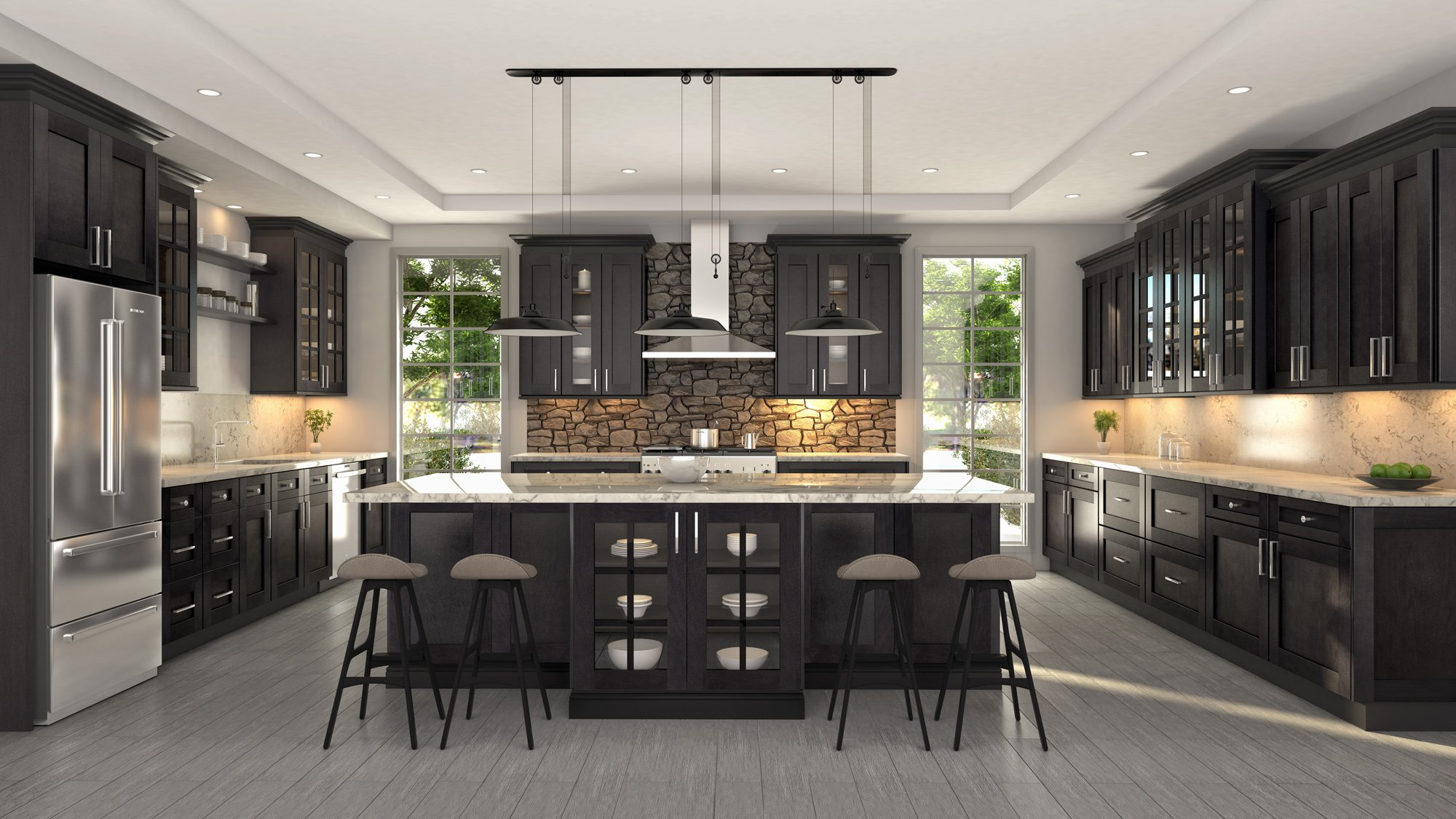 Dover shale cubitac cabinetry for Kitchen showrooms nj